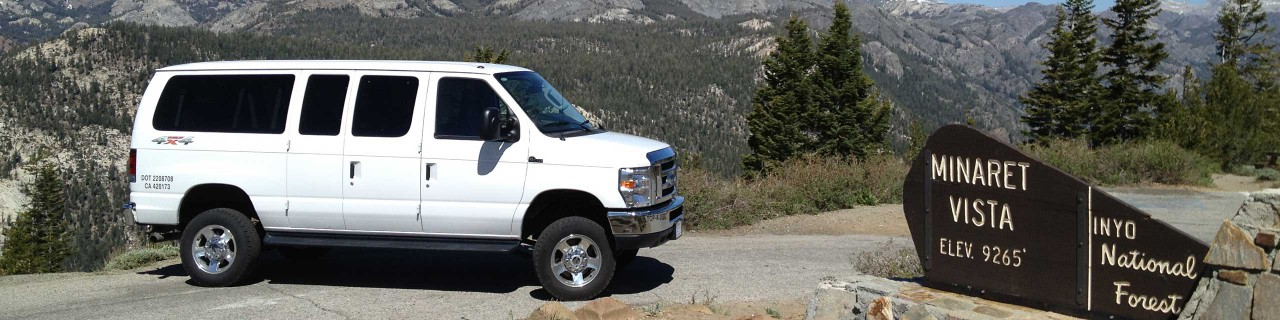 Mammoth All Weather Shuttle Van at Minaret Vista