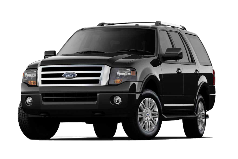 Black on Black Ford Expedition with Limo Tint