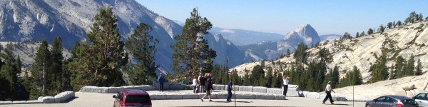 Yosemite Sightseeing Tour Looking at Half Dome