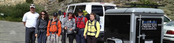 MAWS Transporting Backpackers to the Trailhead